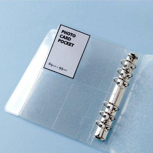 Glitter 6 Ring A6 Wide Card Pocket Refill