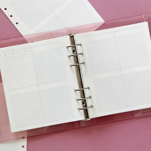 Square 6 Ring A6 Wide Planner Refill v2