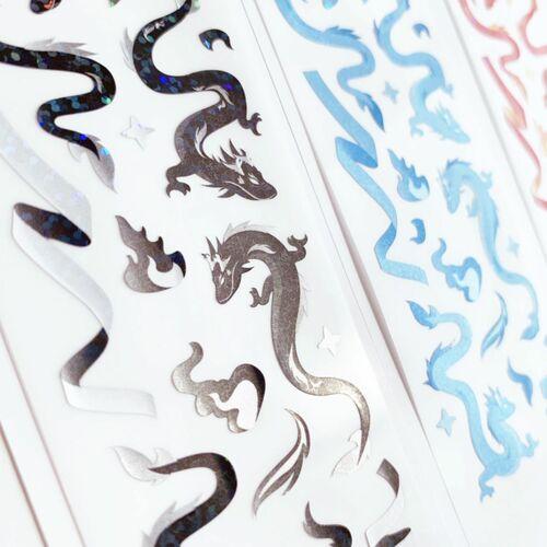 Dragon Hologram Slim Sticker