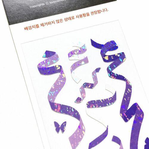 Confetti Hologram Slim Sticker