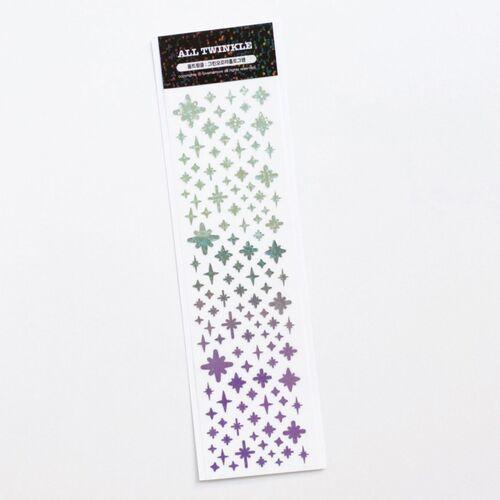 Gradient Twinkle Hologram Slim Sticker