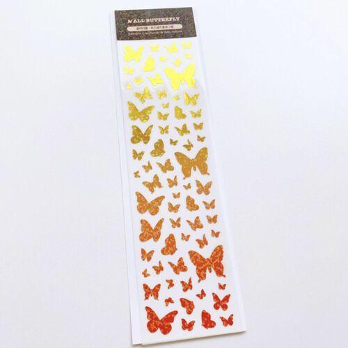 Gradient Butterfly Hologram Slim Sticker