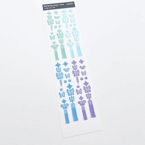 Butterfly Drop Slim Sticker