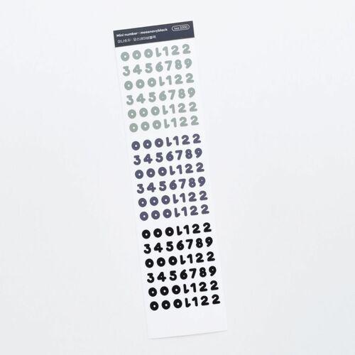 Number Slim Sticker
