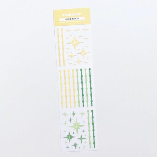 Star Drop Slim Sticker