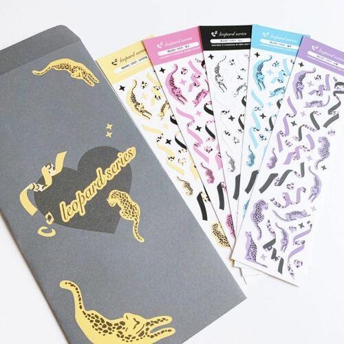 Leopard Confetti Slim Sticker