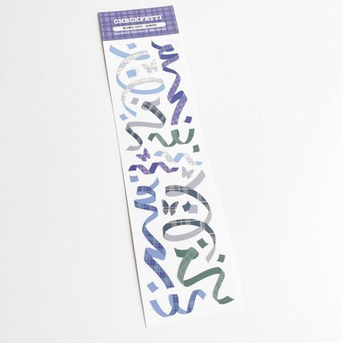 Check Confetti Slim Sticker