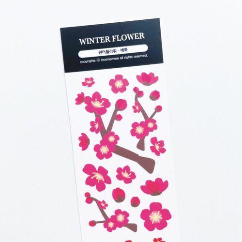 Winter Flower Slim Sticker