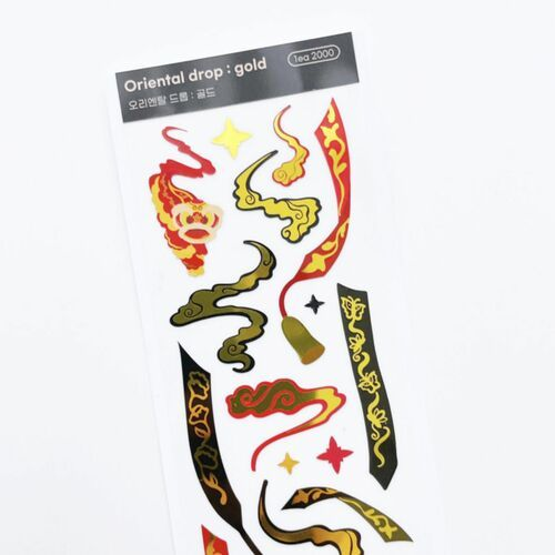 Oriental Drop Slim Sticker