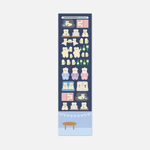 Lovely Bear Slim Sticker v1