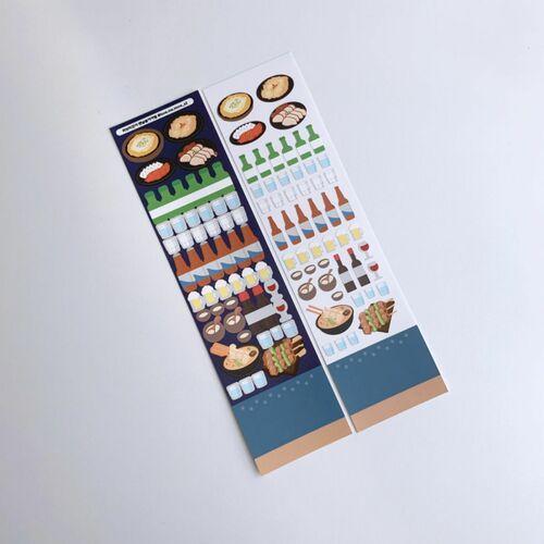 Soju and Beer Slim Sticker