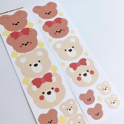 Big Bear Face Slim Sticker