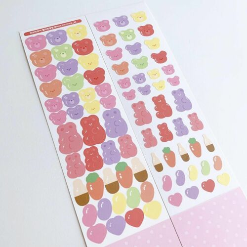 Jelly Bear Slim Sticker