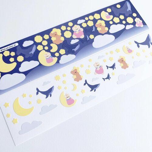 Night Bear Slim Sticker