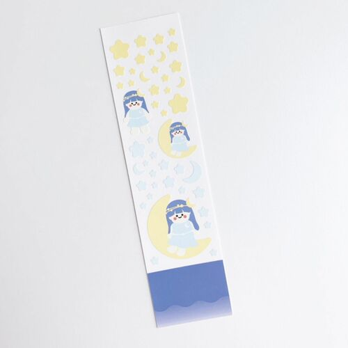 Moon and Stars Slim Sticker