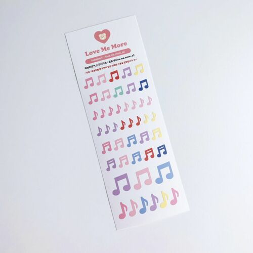 Music Note Slim Sticker v1