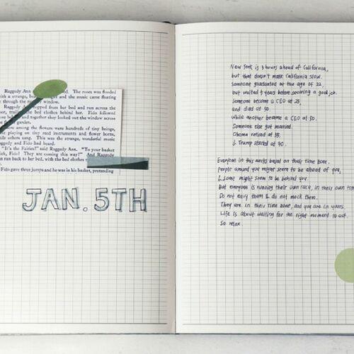 Sleeping Piece Weekly Journal