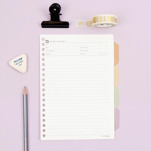 Reading Response 20 Ring Notebook Refill