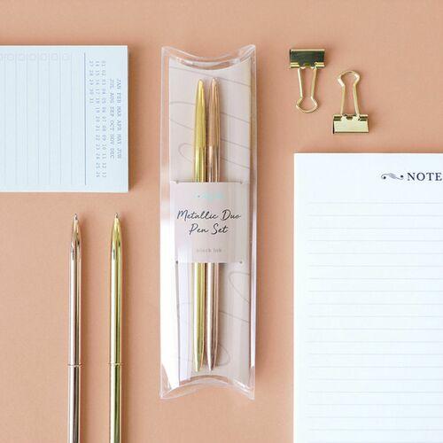 Metallic Gold Pen Set
