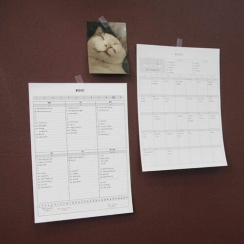 Monthly & Weekly A4 Monthly Planner Sheets