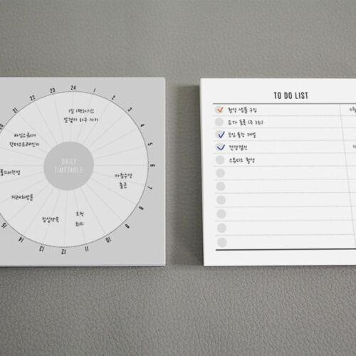 There's Small Schedule Notepad