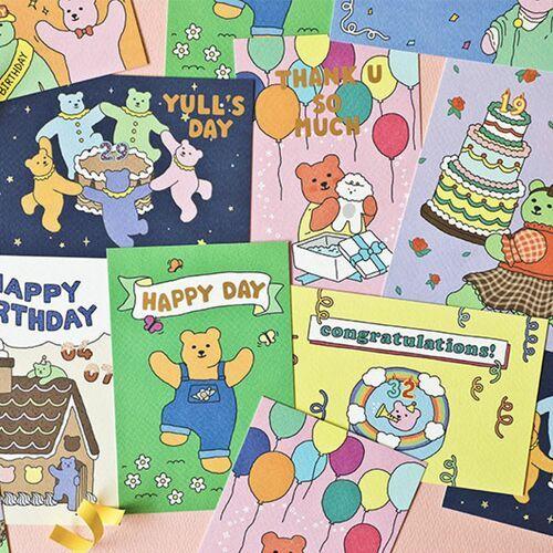 Jelly Bear Birthday Card Set