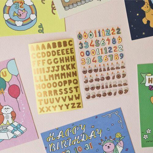 Birthday Card Deco Sticker