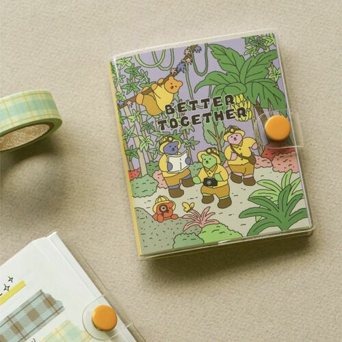 Mini Jelly Bear Button Notebook