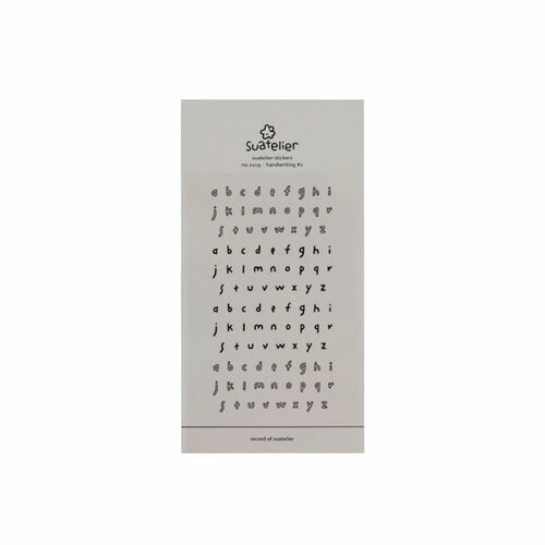 Handwriting #1 Alphabet Deco Sticker