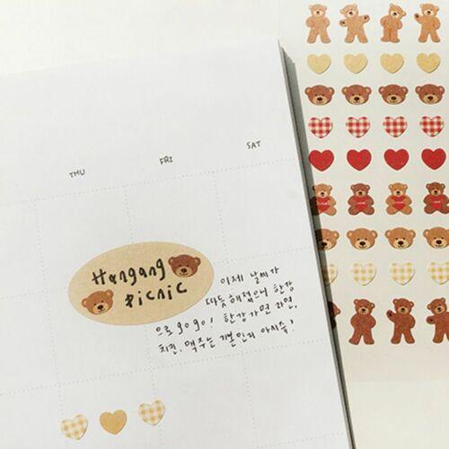Mini Heart Bear Deco Sticker