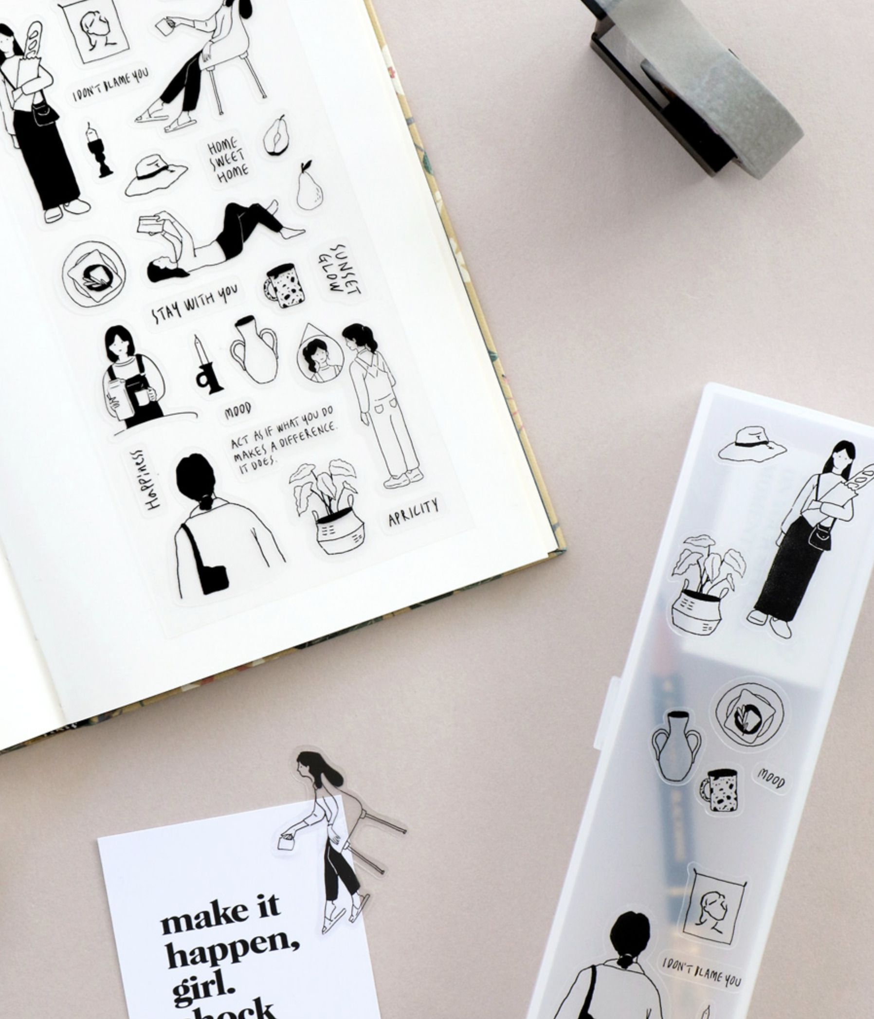 8pcs Collage Deco Sticker Set