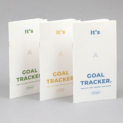 30 Days Goal Tracking Slim Notebook