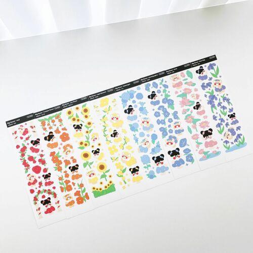 Big Rainbow Flower Slim Sticker