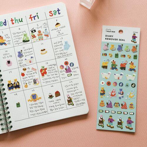 Mini Diary Removable Sticker v6