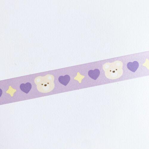 Love Me More Bbori Bear Masking Tape