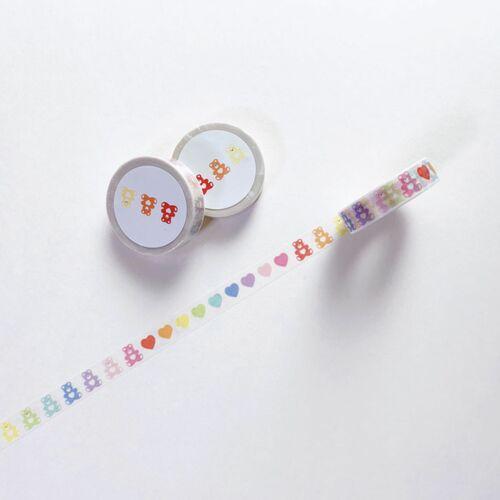 Rainbow Bear & Heart Masking Tape