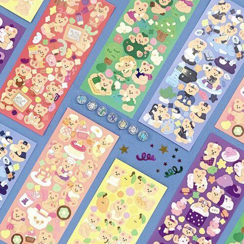 Juicy Bear Removable Slim Sticker v4
