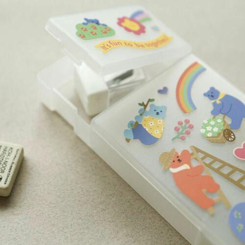 Jelly Bear Pen Case & Sticker Set