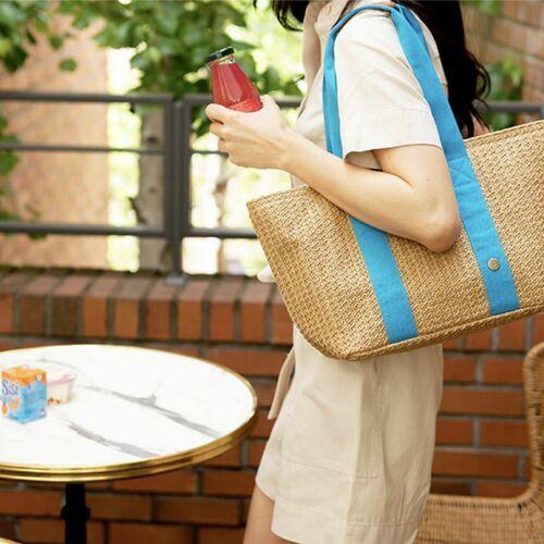 Large Rattan Cooler Bag