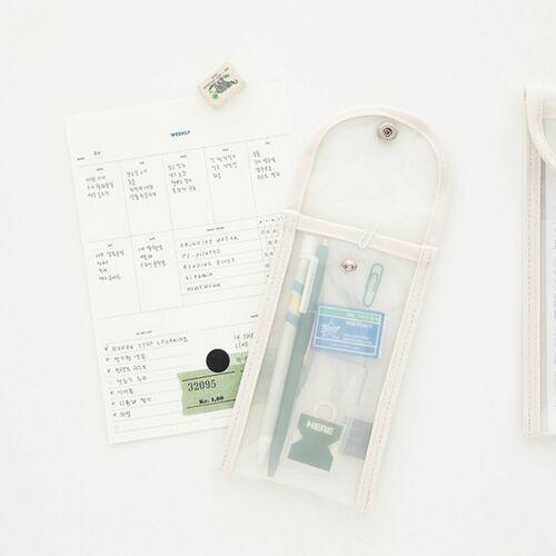 Button Translucent Pen Pouch