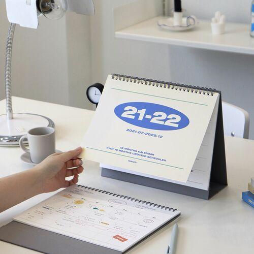 2022 Indigo Basic Desk Calendar