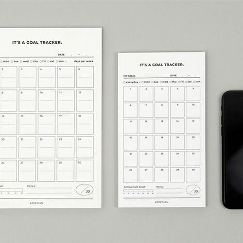 Medium 30 Days Goal Tracking Notepad