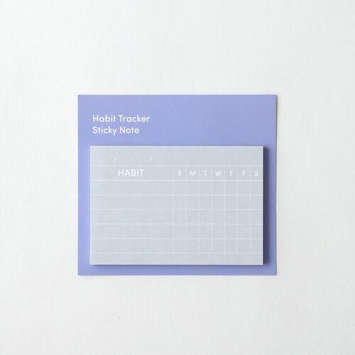 Habit Tracker Sticky Note