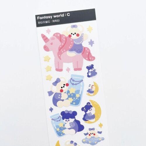 Fantasy World Slim Sticker