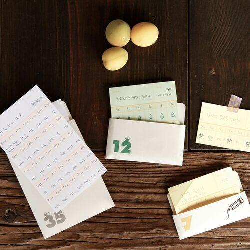 12 days Habit Tracker Memo Pad