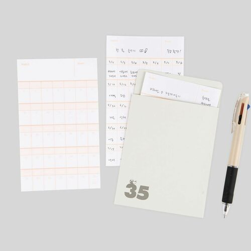35 days Habit Tracker Memo Pad