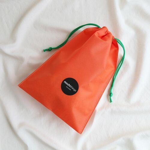2pcs Carrot Drawstring Bag