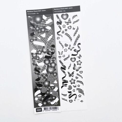 Rainbow Check Confetti Slim Sticker