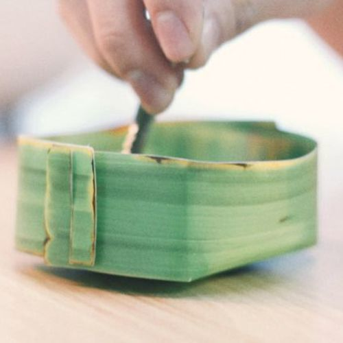 Long Banana Leaf Tray