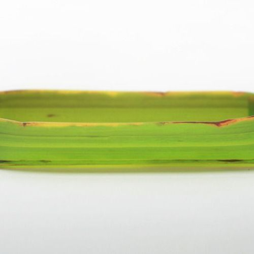 Long Banana Leaf Tray Set